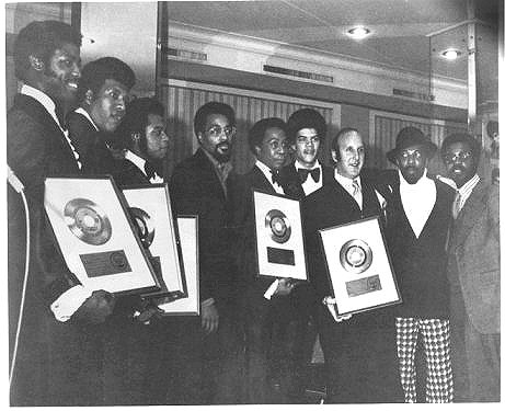 The Bluenotes receive Gold Record